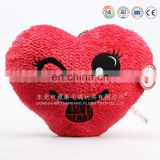 Cute plush red star and heart shaped cushion toys for kids
