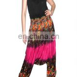 Wholesales Cotton harem pant, Boho style baggy pants balloon casual shirred waist pants Silk Harem Trouser