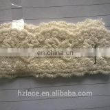 butterfly shape cotton yarn nylon net lace trim