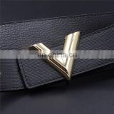 triangle yellow zinc alloy metal leather belt buckles accessories buckle leather belt belt male v letters