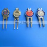 High Quality Metal Golf Divot Tools With Custom Magnetic Hard Enamel Ball Marker