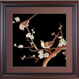 room Ornament pendant painting straw painting plum blossom bird can be used business gift chinese handicrafts