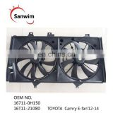 Dual Radiator and Condenser Cooling Fan Assembly For 2012-2014 To-yota Camry