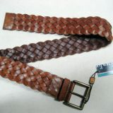 Real leather or PU weaving belts waist belt