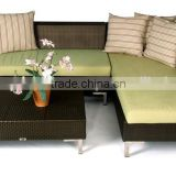 Aluminum Frame Outdoor Rattan Living Lounge Sofa Set