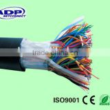 UTP 24AWG 0.50mm Bare Copper 50 Pair Outdoor Non Armored Jelly Filled PE Sheath Telephone Cable