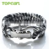 High Quality Survival Bracelet With Adjustable Stainless Steel Clasp Wholesale Paracord Bracelet MEB213