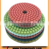 "4"" 500# strong pad A quality marble floor wet polishing pads                                                                         Quality Choice"
