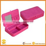 High quality Plush Fabric Jewelry Box,suede leather travel jewelry case,velvet jewelry storage box                                                                         Quality Choice
