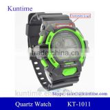 cold light stainless steel back sport watch waterproof