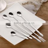 Multi-Purpose Stainless Steel Mixing Spoon For Cream Iced Coffee Spoons and fork with different size