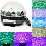 6 Color Changing RGB Crystal Magic Rotating Ball Effect LED Crystal Ball Stage Light for KTV Xmas Party Wedding