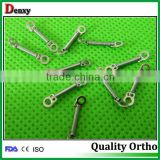Promotional high quality dental orthodontic open coil springs / 1 bigger ring close springs with CE,ISO and FDA