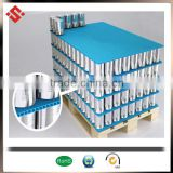 Corrugated plastic layer pad for beer and liquor containers