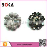 BOKA Silver Flower Rhinestone Buckle for Ladies Sandals, Rhinestone Shoe Buckle Decorations