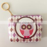 Unique!!! Customized PU material owl design customed coin purse with buckles for kids /girls promotional gift