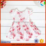 2016 Manufacturer new arrival summer children dress wholesale flower girl dress for boutique frock design kid dress (ulik-GD141)