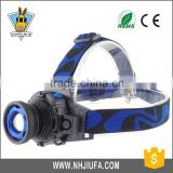JF LED head flashlight rechargeable lamp beads rotating long-range outdoor waterproof glare headlight