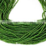 "5 Strands Natural Taiwan Green Jade Smooth Balls Gemstone Rondelle Beads 2mm 15"" Long"