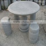 Outdoor garden granite stone table sets/ bench