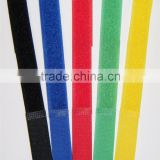 Factory direct sales colorful magic nylon soft cable strap hook and loop cable tie wire fasteners