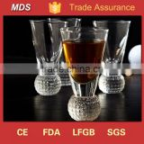 Decorative ball shot glasses with round bottom