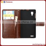 Fashion pu leather mobile phone case for lenovo P780 with card holder