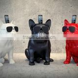decorative resin dog welcome statue,fiberglass animal statue