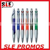Office Supply Plastic Barrel Fashion Design Ball-Point Pen, Blue Ink