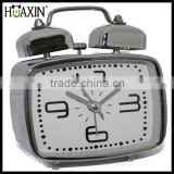 Quartz analog metal desktop table alarm clock with customized Logo