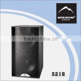 Inquiry about Martin Brother Blackline S218 speaker pro audio