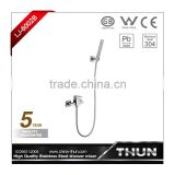 surface mounted stainless steel shower sets