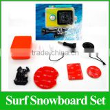 HOT GP179 Sport Camera Accessories Go Pro Board Mount Surf Snowboard Wakeboard Set Accessories Tripods for Go pro SJ4000 SJ5000