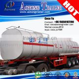 Africa hot sale 3 axles volume optional co2 transport tank truck trailer / Fuel tanker trailer dimensions