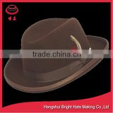 Outback Wool Felt Homburg Hat