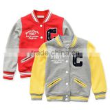 kids baseball uniform for spring casual garments outerwear baby jackets without hood