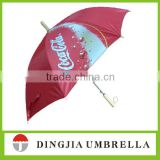 black red polyester layer straight umbrella frber frame