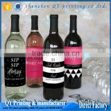 Cmyk maker permanent fancy glass bottle stickers, self adhesive rectangle print custom champagne labels