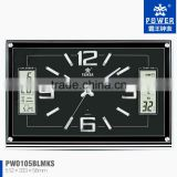 Spuare wall clock with LED,Wall clock factory & manufacture,LCD diaplay clock,Clock with music