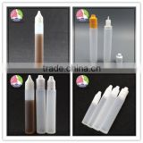 Wholesale unicorn plastic e liquid bottle 30ml long thin style unicorn bottle with child resistant cap and tamper evident seal