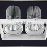 High quality brand led cob chips wide pressure constant current driver led grille downlights 2x45w
