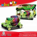 Plastic toy game new B/O kids battery operated cars with 3d light and music,electric battery car