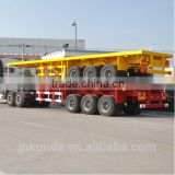 Low price high quality new 3 axle 20ft 40ft container flatbed semi trailer for sale                                                                         Quality Choice