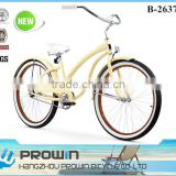 "2016 26"" beach cruiser bicycle/single speed cruiser beach bike 26/bici cruiser economici (PW-B26374)"
