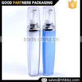 100% pure raw material decorative blue lotion pump 20ml bottle