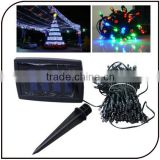 Solar pannel 2V 450mAh outdoor decor 200 leds christmas party light Waterproof led copper wire string light