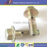 Yellow Galvanized Hex Flange Bolt with Hole