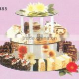 High quality Mini 3-tiered crystal cake stands for weeding cakes