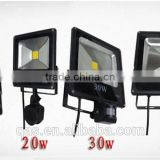 85-265v 10W 20W 30W 50W 70W 100W Outdoor LED Flood light lamp with Motion detective Sensor PIR LED Floodlight