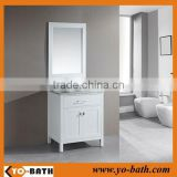 24 inch white lacquer bathroom vanity, white bathroom vanity with marble countertop